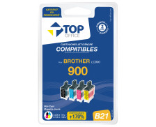 Pack 4 cartouches d'encre compatible BROTHER LC900 – 4 couleurs