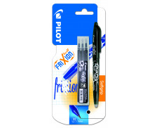 Stylo roller Frixion ball + recharge - PILOT - Noir