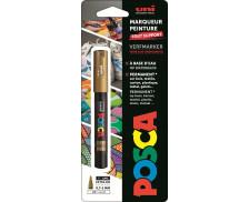 Marqueur peinture à l'eau tout support - UNI POSCA - Pointe fine - Or