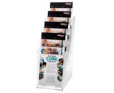 Porte-brochures à 4 compartiments 1/3 A4 vertical - DEFLECTO