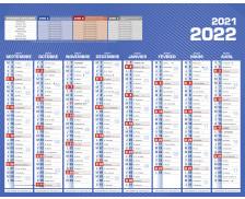 Calendrier scolaire 2019/2020 - BOUCHUT - 21 x 27 - Bleu