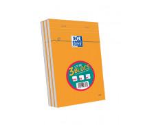 Lot 2+1 Blocs feuilles - OXFORD - A5 - 160 pages - 5x5