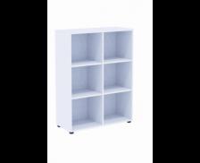 Etagère basse - MAXIM - L84 cm - Finition blanche