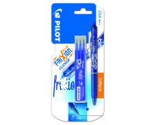 Stylo roller FriXion Clicker + 3 recharges - PILOT - Bleu