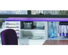 Réhausse de rangement box - IDRA - Gris/Violet