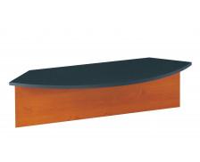 Banque d'accueil  pour angle de liaison  90 JAZZ, largeur : 115 cm - coloris aulne