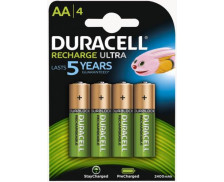 Pack de 4 piles rechargeables AA StayCharged - DURACELL