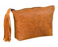 Trousse scolaire plate en cuir vintage - Hamelin - Fille