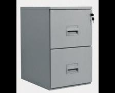 Classeur pour dossiers suspendus P54 cm - 2 tiroirs - Metal/Aluminium