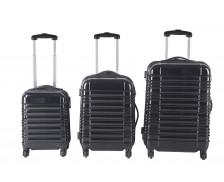 Set de 3 valises ABS de 40cm / 50cm / 60cm - Rayures noires