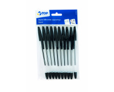 Lot de 10 stylos bille - TOP OFFICE - Noir
