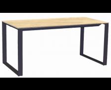 Bureau - MAXIM - L160 cm - Finition chêne/noire