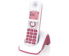 Téléphone fixe sans-fil F330S Voice Solo - ALCATEL - Rose