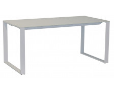 Bureau en verre - MAXIM - Finition blanche - Longueur 120 cm