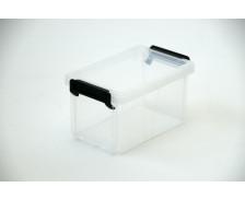 Boîte en plastique avec couvercle - 0.55L - Transparent