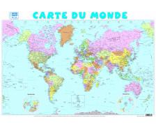 Poster éducatif recto verso Carte du Monde - PICCOLIA