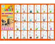Poster éducatif recto verso J'apprends l'Alphabet - PICCOLIA
