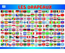 Poster éducatif recto verso Les Drapeaux - PICCOLIA