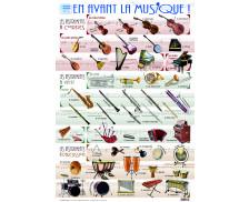 Poster éducatif recto verso Les Instruments de Musique - PICCOLIA