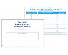Etat spécial de mise en service des carnets de reçus - TISSOT - Professions immobilières
