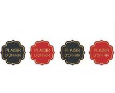 Boîte de 500 étiquettes cadeaux Plaisir d'offrir - CLAIREFONTAINE - Noir / rouge