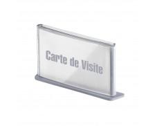 Plaque de signalisation et d'affichage Carte de visite - PAPERFLOW - Teinte aluminium - 6.5 x 11.5 x 2 cm