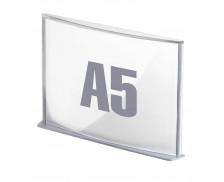 Plaque de signalisation pour porte / couloir - PAPERFLOW -  Format A5 - Teinte aluminium