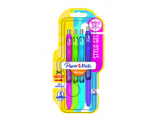 Lot de 3 + 1 stylos roller gel Inkjoy fun - PAPERMATE - 4 couleurs