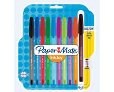 Lot de 10 stylos bille Inkjoy 100 - PAPERMATE - Assortiment de couleurs