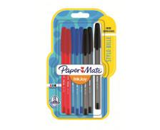 Lot de 8 stylos billes InkJoy 100 - PAPERMATE - 3 couleurs