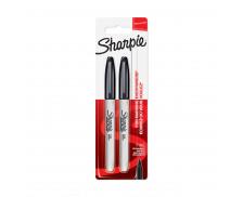 Lot de 2 marqueurs permanents - SHARPIE - Pointe fine - Noir