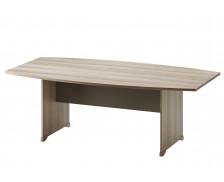 Table de réunion tonneau L204 cm - JAZZ + - Chêne/gris foncé