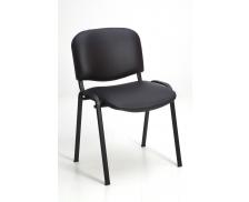 Chaise de réunion - ISO - Noir/noir - PVC