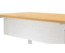 Voile de fond bureau 180 cm - WOOD - Anthracite - Métal