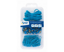 Kit de 100 Attaches - Bleu - TOP OFFICE