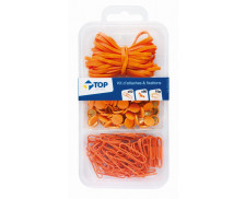 Kit de 100 Attaches - Orange - TOP OFFICE -