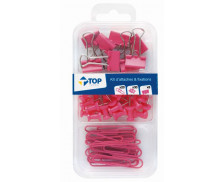 Kit de 58 Attaches - Rose- TOP OFFICE -