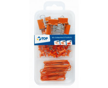 Kit de 58 Attaches - Orange - TOP OFFICE -