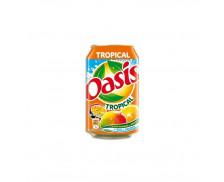 Pack de 24 canettes de 33 cl - OASIS Tropical