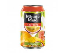 Pack de 24 canettes de 33 cl - MINUTE MAID Tropical