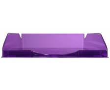 Corbeille à courrier - EXACOMPTA - Violet translucide