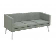 Canapé d'accueil en tissu 3 places - Bleu chiné