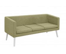 Canapé d'accueil en tissu 3 places - Jaune chiné
