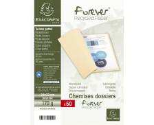 Lot de 50 chemises Forever 24 x 32 cm - EXACOMPTA - Bleu