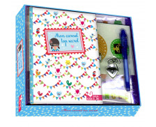 Coffret journal intime + stylo - Fille - 64 pages - 19.5x23 cm