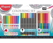 Set de coloriage - MAPED - 33 pièces