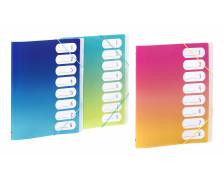 Trieur A4 - VIQUEL - 8 compartiments - Assortiment coloris sunset