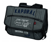 Cartable gris - KAPORAL - 2 compartiments - 41 cm
