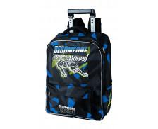 Sac à dos à roulettes Besomeone - OBERTHUR - 2 compartiments - Noir / bleu - 43 cm