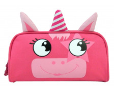 Trousse scolaire rectangulaire Licorne - BAGTROTTER - 1 compartiment - Rose